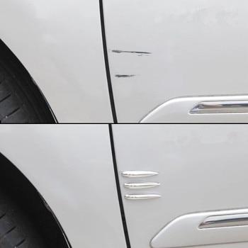 12Pcs/Lot Car Door Edge Guard Car Styling Mouldings Strip Bumper Protector Anti-Scratch Strip Corner Door Protector Moldings car door protector side edge auto rubber seals door strip anti collision with steel bumper edge scratch protector car styling