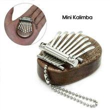 Мини пианино для большого пальца портативный деревянный инструмент