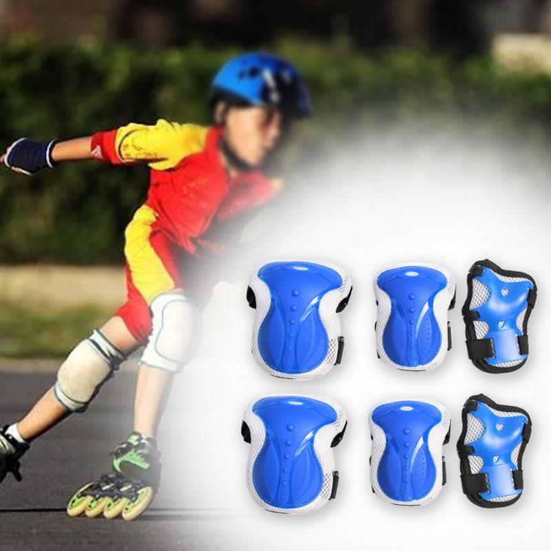 6 Pcs Rollerblading Wrist Guards Safety Adult Protection Gear Set Body Accessories Outdoor Skating Elbow Knee Pads Skateboarding