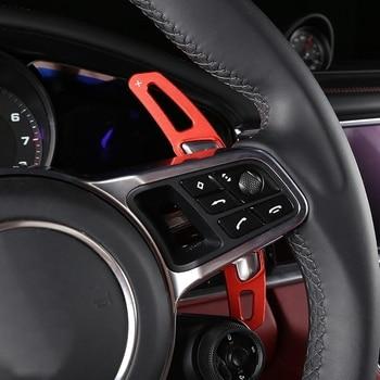 Aluminium Alloy Car Steering Wheel Shift Paddles Trim Sticker For Porsche Panamera Cayenne Macan Interior Modified Accessories 1