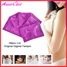 100 Pcs Medicinali Vaginale Tamponi Cinese Medicina Tampone di Scarico Tossine Femminile Igiene Ginecologia Pad Tamponi Bella Vita