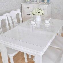 Marca pvc toalha de mesa toalha de mesa transparente capa de toalha de mesa à prova dwaterproof água cozinha padrão toalha de óleo pano macio vidro 1.0mm