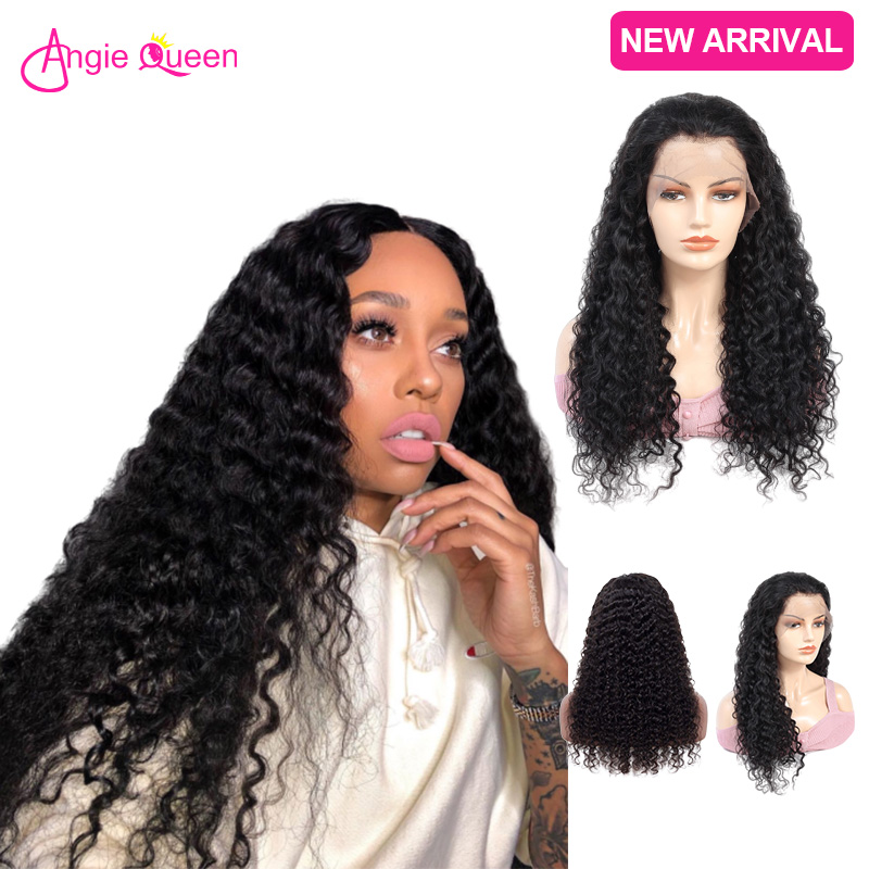 Deep Wave Wig Lace Front Human Hair Wig Closure Wig 150% Indian Human Hair Wigs Remy Hair Lace Front Wig 10 12 14 16 18 20 22 24