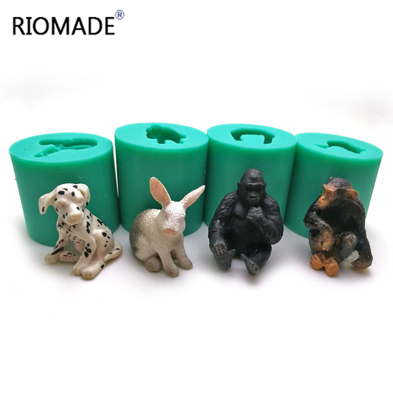 Diy Cartoon Series Animals Face Modeling Chocolate Silicone Mold Candy Polymer C