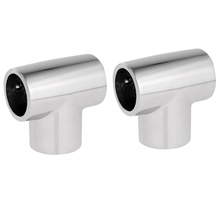 MagiDeal 2pcs Boat Yacht Hand Rail 1 25mm Tee - 316 Stainl Steel Fittings