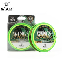 W.P.E WINGS Nylon Fishing Line 100m/300m/500m Sink Leader Fishing Line 0.20mm-0.50mm 5.8LB-26.4LB Fishing Tackle Pesca Accessory