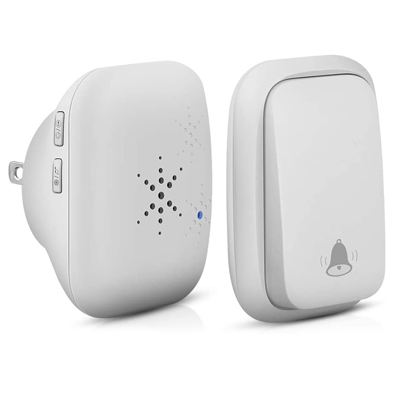 No Battery Required Doorbell,Self-Powered Generation Waterproof Wireless Door Bell Chime Kit For Home, Office, Shops,Dog Bell,Op