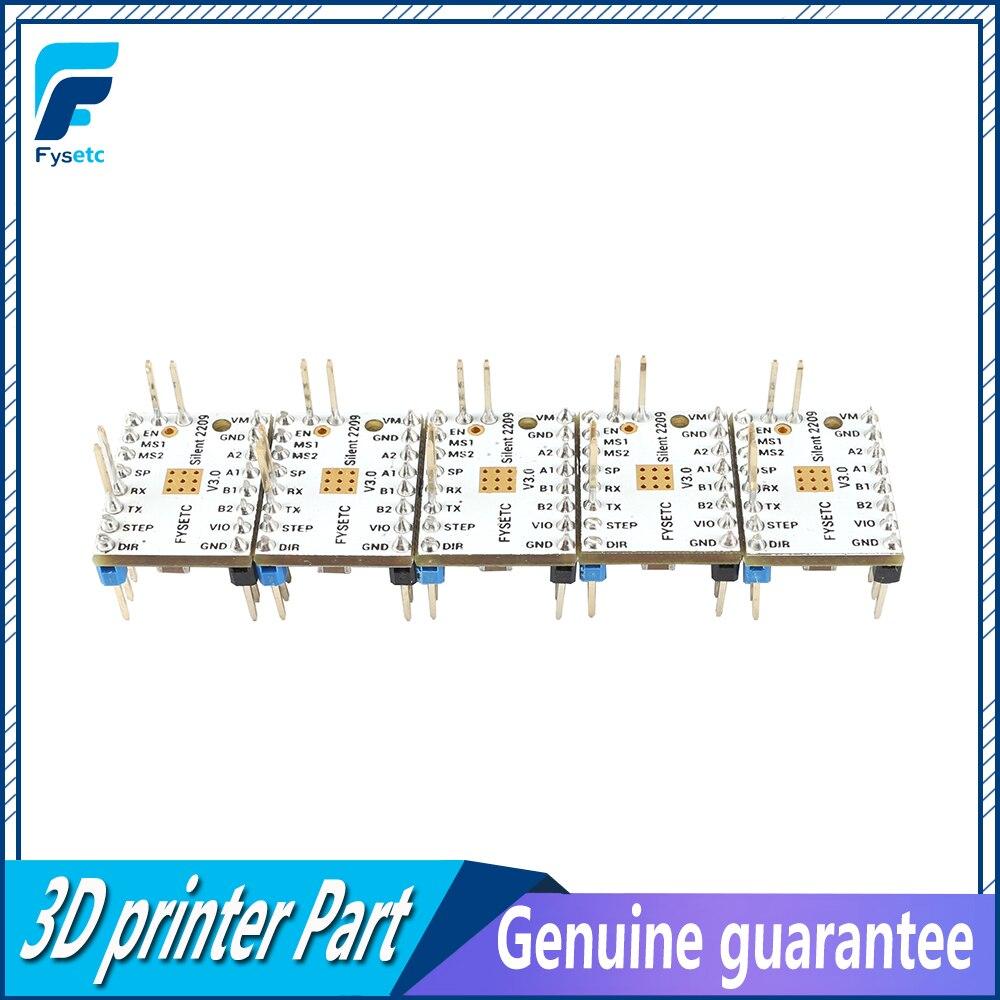 5 قطعة TMC2209 V3.0 خطوة المحرك سائق خطوة العصي كتم سائق 256 ميكروستيبس الحالي 2.8A الذروة VS TMC2208