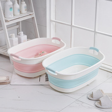 Bath-Tub Folding Portable Bathroom-Accessories Baby Non-Slip Newborn Multifunction