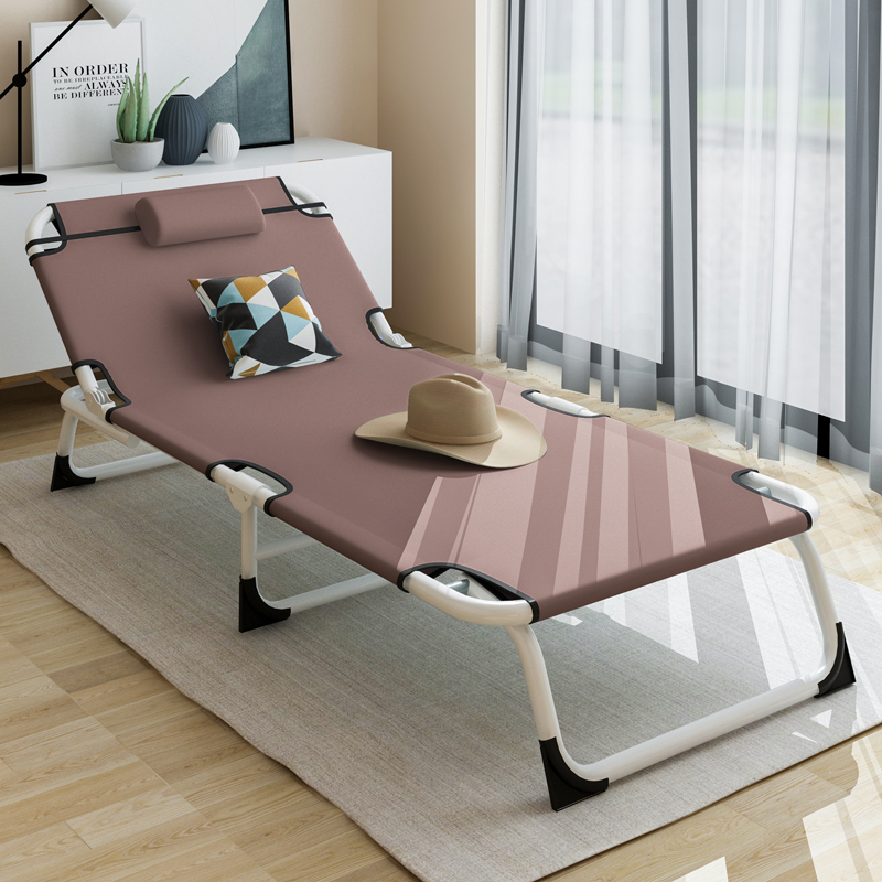 Folding Bed Single Bed Household Adult Midday Break Bed Nap Lifting Chair Office Simple Bed Marching Accompaniment