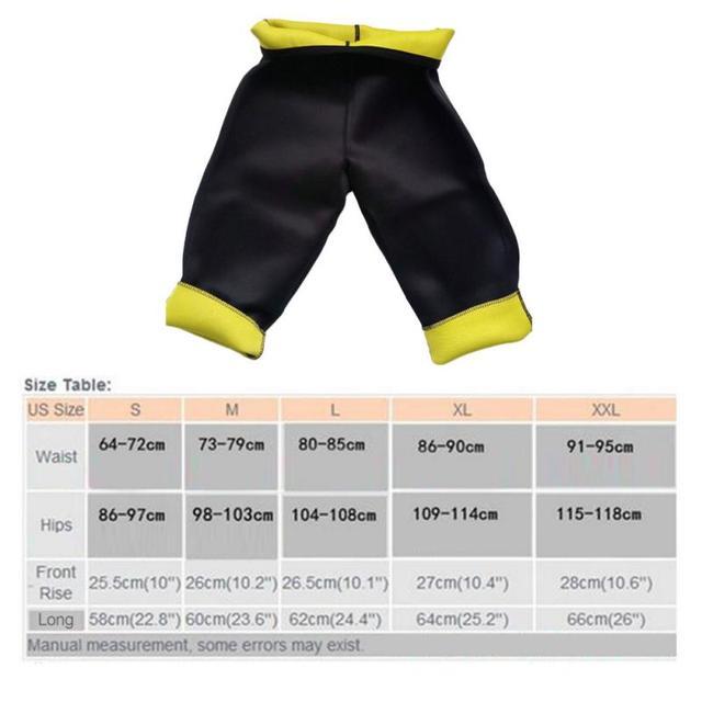Hot selling yoga pants fitness sauna shaping pants corset belt cropped pants burst sweat pants self-heating weight loss pant NEW 5