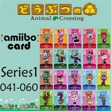 Пересечение животных подлинных данных новые горизонты игры Марио карты для NS переключатель 3DS игра набор NFC карт Ряд1 041-060 матовый материал
