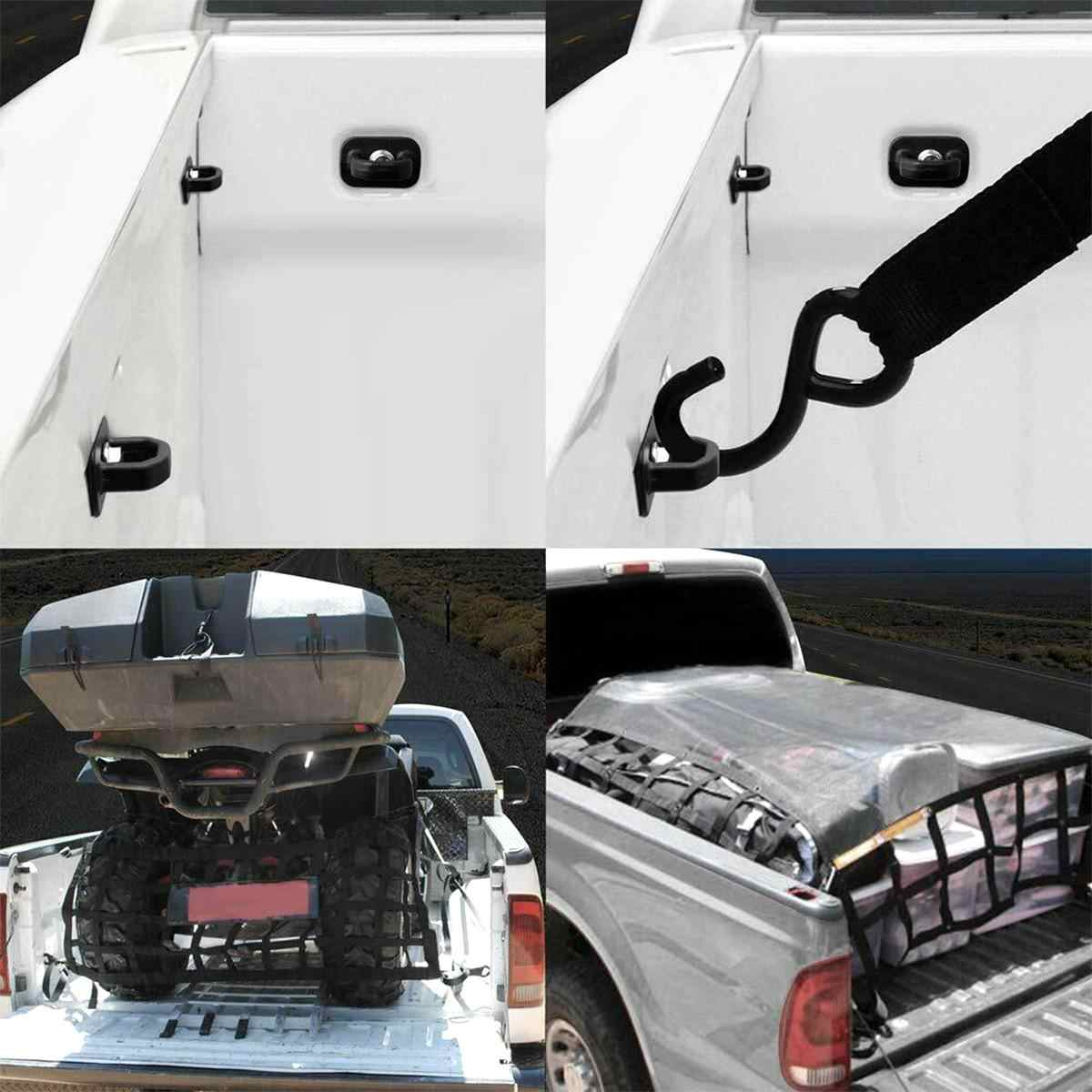 WMPHE Compatible with 4PCS Tie Down Anchors Truck Cargo Fixed Wall Anchor Chevrolet Colorado 15-18,GMC Canyon 15-18,Chevrolet Silverdo 07-18,GMC Sierra 07-18