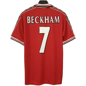 1998 Retro Beckham Giggs Solskjaer Keane Cole Yorke Scholes Manchester customize High quality jerseys MU T-shirt united classic
