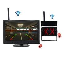 4,3/5 zoll Drahtlose Auto Reverse Rückansicht umkehr Backup Parkplatz Kamera Lizenz Platte kamera mit Monitor für Auto SUV RV