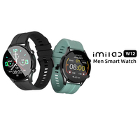 IMILAB W12 Smart Uhr Männer Sport Fitness Tracker Herz Rate Schlaf Monitor IP68 Wasserdicht Bildschirm Für IOS Android-System Telefon
