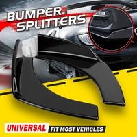 2x Black Universal Car Front Bumper Lip Deflector Diffuser Spoiler Splitter Canard Lip For BMW W204 E90 E92 For Benz For Audi A4