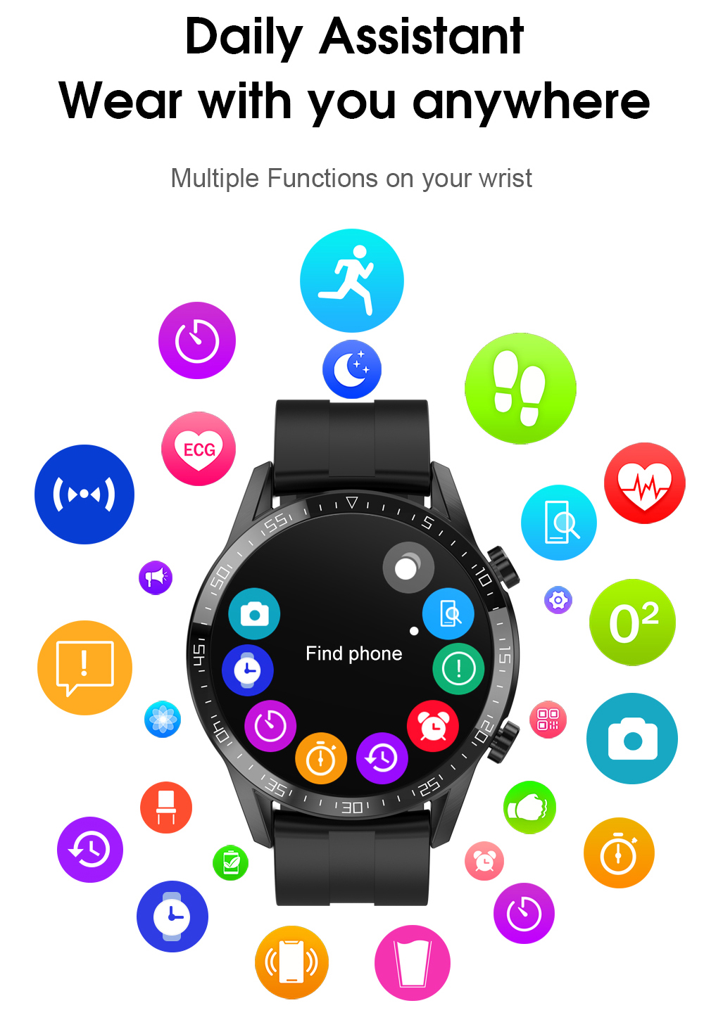 H92b5ba90448b4a1abc8818472ac5eb704 Timewolf IP68 Smart Watch Men Android 2020 Full Touch Smartwatch Men Women Smart Watch For Huawei Xiaomi Apple IOS Android Phone