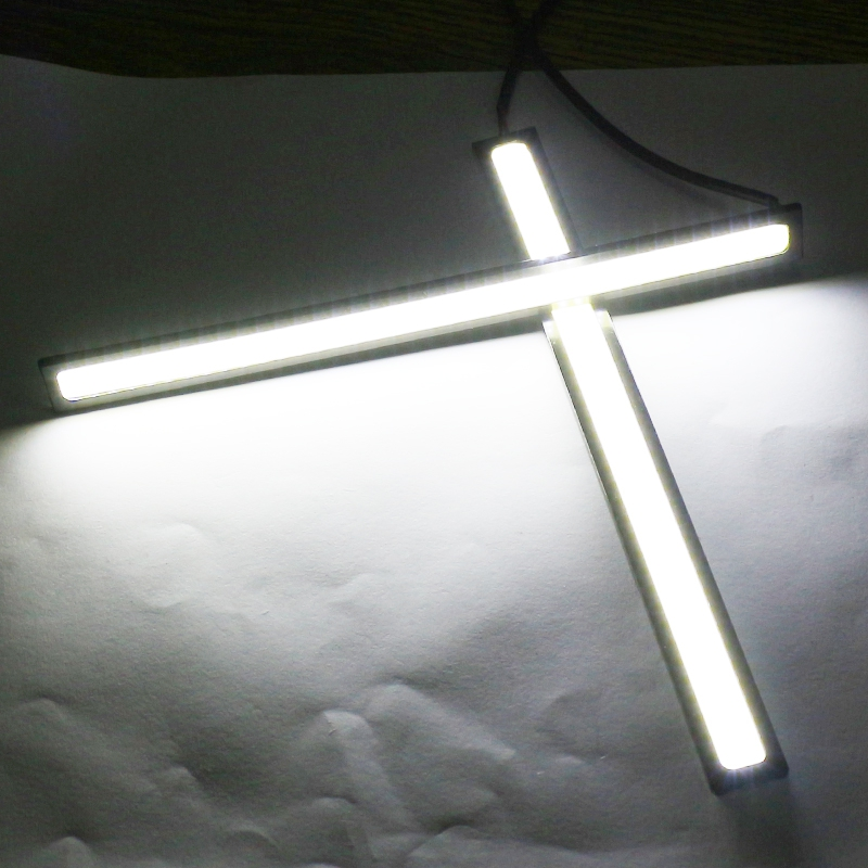 NEWKBO 2pcs Waterproof 17cm COB Xenon White Car LED Light For DRL Fog Light Driving Lamp License Plate Light Decorative Light