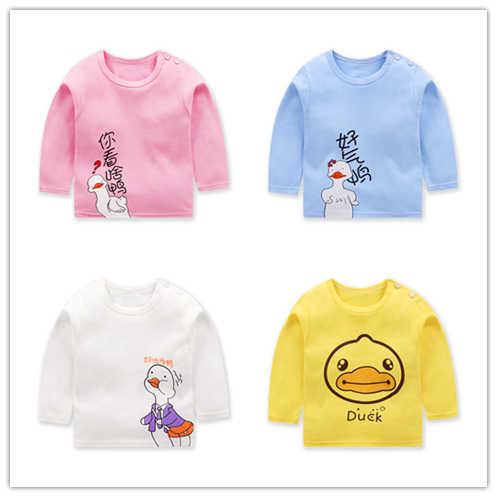 2019 새로운 아동 의류 아기 의류 아동 의류 만화 스타일 undercoat 순수 면화 정장 유아 의류