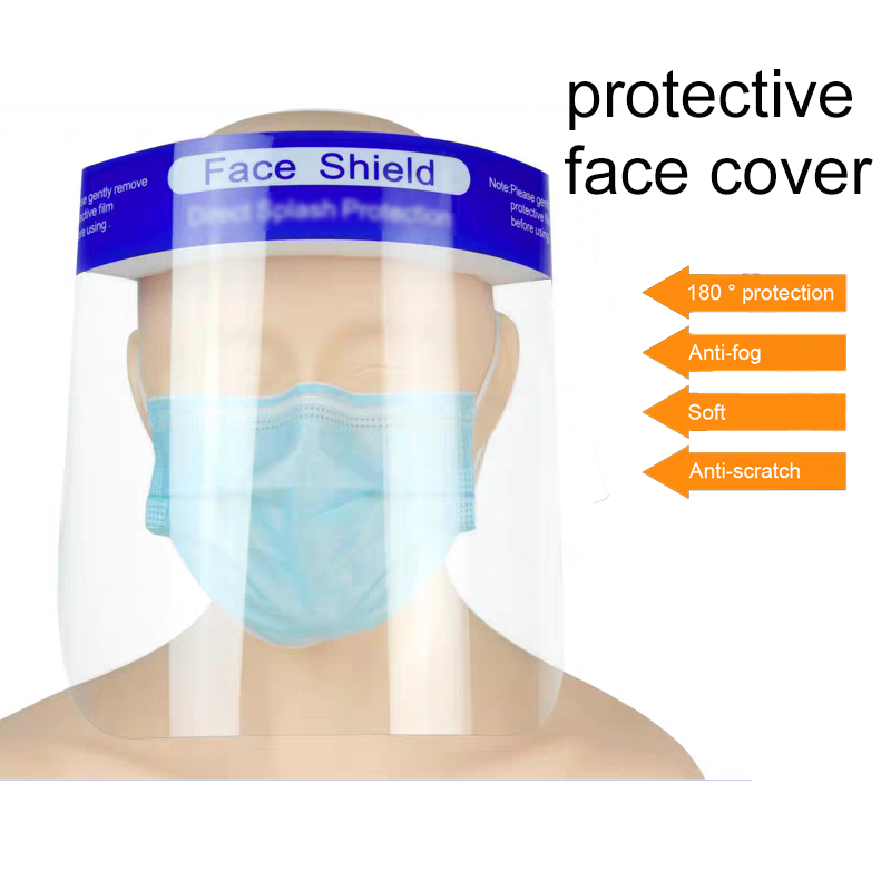 10Pcs Safety Face Shield Replaceable Full Protective Transparent Visor Protection Anti Splash Safety Face Cover For Dropshipping