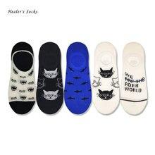 Новинка 2020 модные женские носки хлопковые цветные с кошачьими