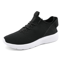 2020 Fashion Men Breathable Shoes Male Vulcanize Mesh Flat-Soled Walking Sneakers Casual Lace-up Man 39-47 Plus Size