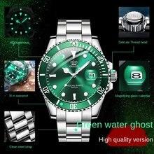 Relógio suíço masculino mecânico relógios de pulso verde submariner relógio de quartzo à prova dwaterproof água relógio automático criativo