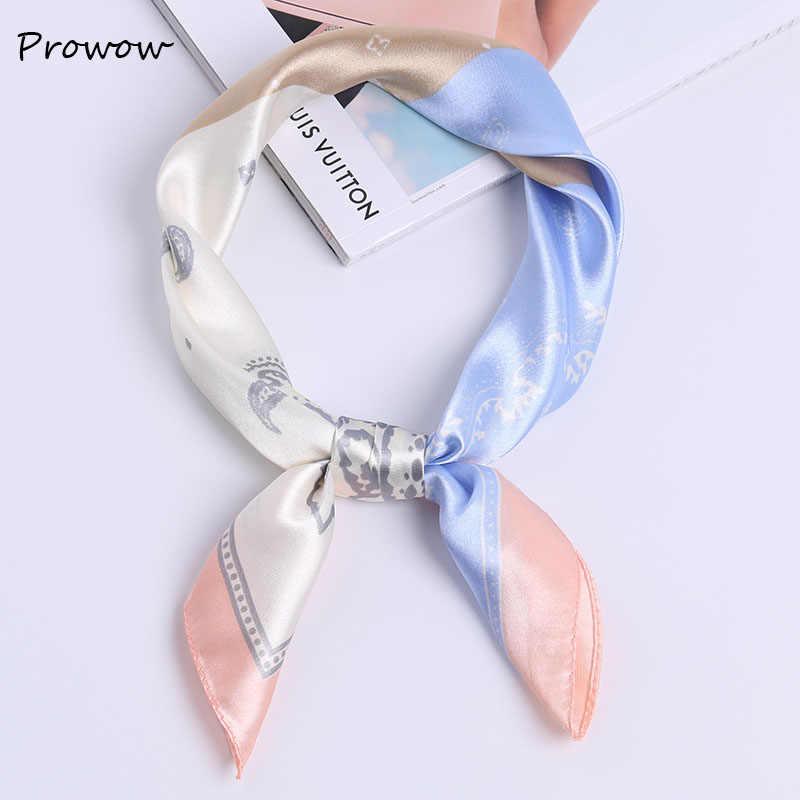60*60cm lenço quadrado gravata de cabelo feminino elegante pequeno vintage magro lenço cabeça retro pescoço lenço de seda, lenços quadrados fj023