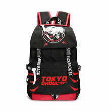 Anime Tokyo Ghoul Backpack Anime Student Bag Red + Black