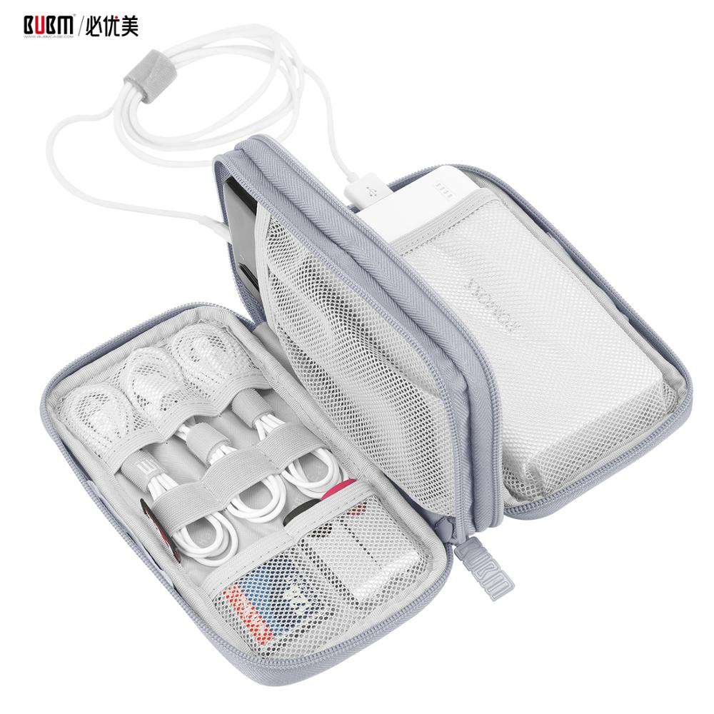BUBM Power Bank Bag For 20000 MAh Storage Organizer For Cable Earphone Line Phone Pouch