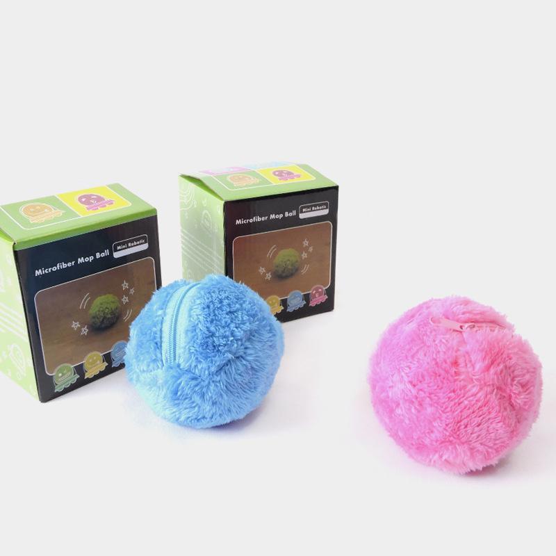 4 в 1 волшебный роликовый шар с активацией, автоматический мяч для жевания, плюшевые игрушки для чистки пола, электрические автоматические п...
