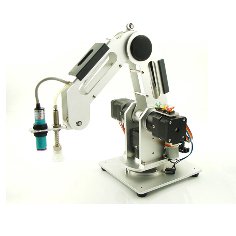 0.5kg Load 3 Axis Handling Palletizing Industrial Robot Arm Desktop Small Teaching Robotic Arm Learning 0.5KG Four DOF DIY Parts