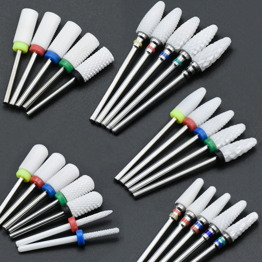 Timistory Ceramic Nail Drill Bit Electric Nail Milling Cutter for Manicure Pedicure Nail Art Accesso