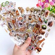 6 folhas/lote crianças inchado adesivos animais selvagens gatos cães meninas meninos recompensas adesivo para professor escola brinquedos clássicos gyh