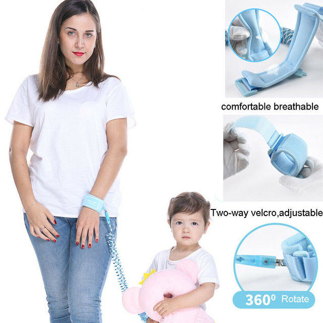 1.5-2.5m Children Leash Anti-lost Wrist Link Traction Rope Kids Safety Harness Adjustable Baby Walker Wristband 1