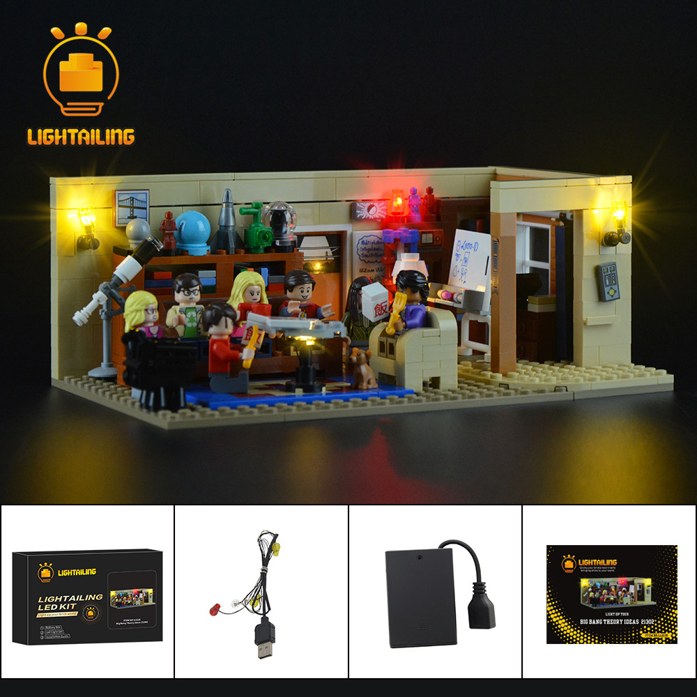 LIGHTAILING Led Light Up Kit For Ideas Series TBBT Building Block Model Lighting Set Compatible With 21302 16024 image