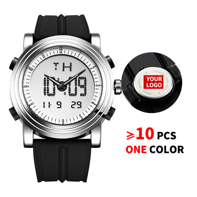 10PCS/Lot SINOBI 9368 Free Customized LOGO Men's Digital Watch Men Chronograph Wrist Watches Custom Watches Best Gifts Watch