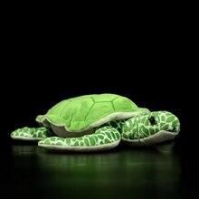 30CM Lifelike Green Turtle Plush Toys Extra Soft Tortoise Stuffed Toy Sea Animals Plushie Birthday Gifts For Kids