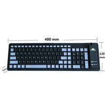 Silicone 103 Keys Compact USB Wired Rollup Foldable Accessories Waterproof Notebook Easy Operate Laptop PC Ergonomic Keyboard