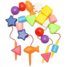 Бисерный браслет, детская игрушка, обучающая, гибкий блок, ювелирное изделие, сокровище, раннее образование, возраст 1-2 года, 3 года, резьба B