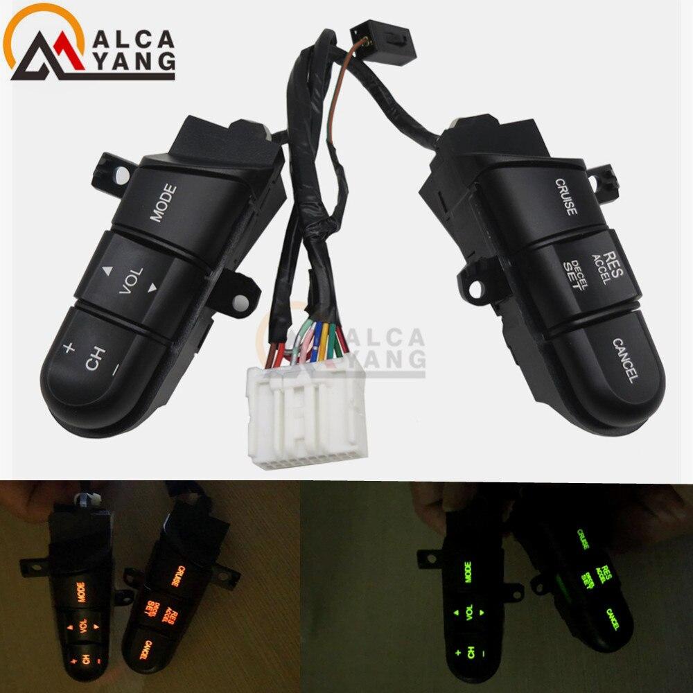 Botões de interruptores de volante de qualidade premier para honda civic 2006-2011