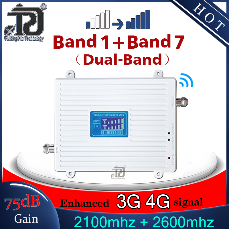 3g 4g signal booster 2100 2600 mhz 3G 4G signal booster LTE WCDMA Mobile signal Booster 4G cellular signal amplifier 4G