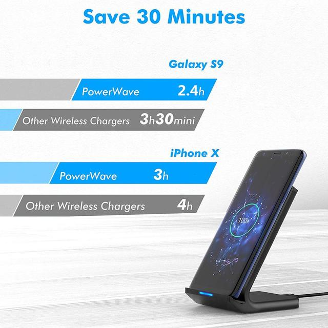 30W Qi Wireless Charger Stand For iPhone 12 11 Pro X XS Max XR 8 Samsung S20 S10 Note 20 Fast Charging Dock Station Phone Holder 5