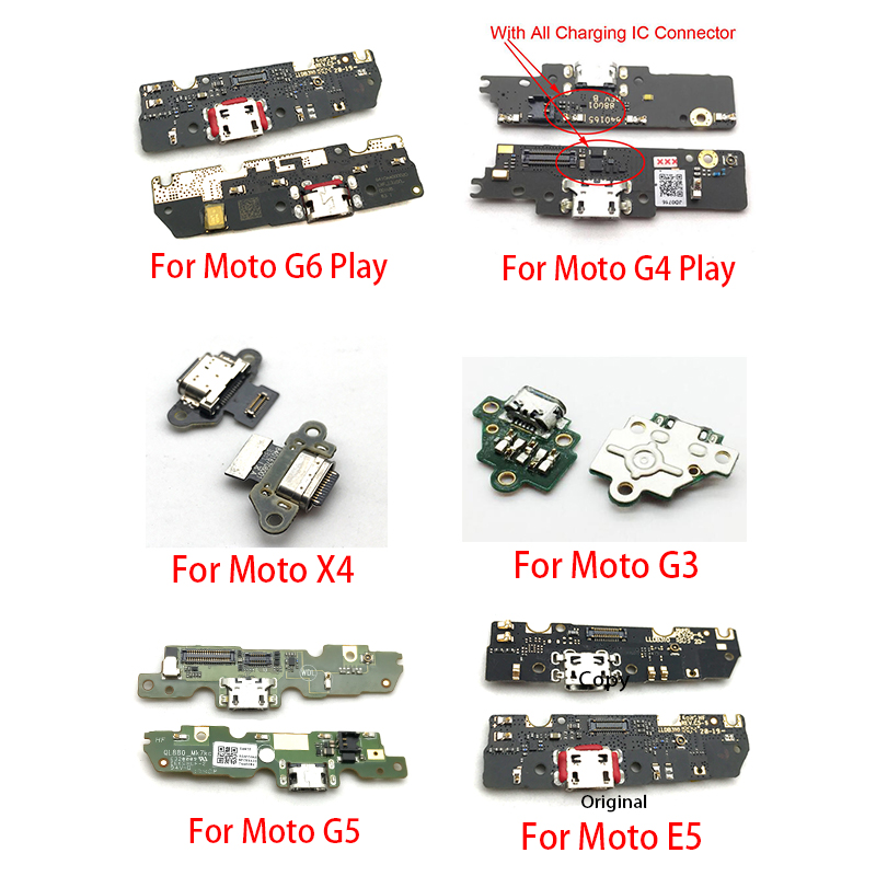 USB Charge Port Jack Dock Connector Charging Board Flex Cable For Motorola Moto G4 G5 G6 Play G3 X4 E5