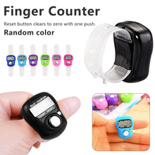 Mini Stitch Marker And Row Finger Counter LCD Electronic Digital Tally Counter For Sewing Knitting weave Tool 1Pcs cheap Inpelanyu Metalworking C0843 2-digit Counters Plastic About 10 5cm 3 8cm x 3cm x 1 6cm Multicolor