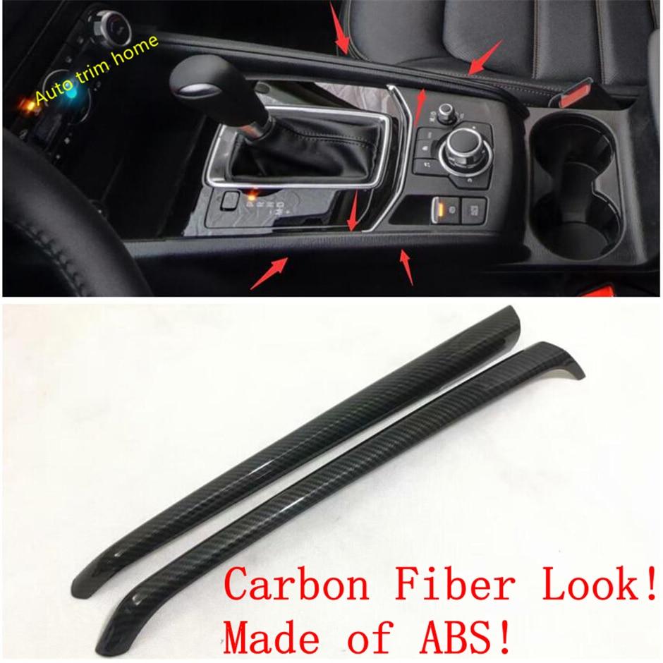 For Mazda CX-5 CX5 2017 2018 Interior Carbon Fiber Gear box Panel Cover Trim