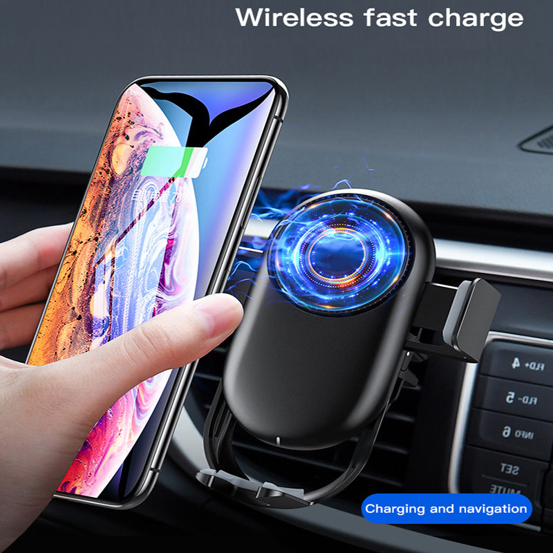 10W Wireless Car Charger Automatic Clamping Fast Charging Phone Holder Mount in Car for iPhone Huawei Samsung Xiaomi Smart Phone in Car Chargers from Cellphones Telecommunications