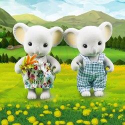 Кукольный домик фигурки мебели мини куклы-коалы лесных животных семьи 1:12 плюшевые игрушки кролик кукла ролевые игры для девочек Подарки На ...