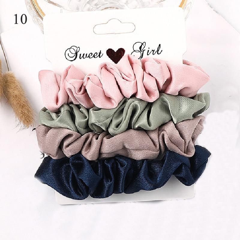 1 комплект резинки для волос кольцо для волос карамельного цвета Веревка для волос осень-зима женский хвостик аксессуары для волос 4-6 шт. ободки для девочек Подарки - Color: New 10